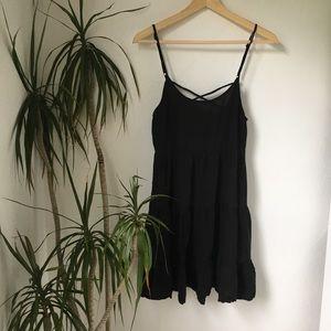 Altar'd State Low Back Black Mini Slip Dress